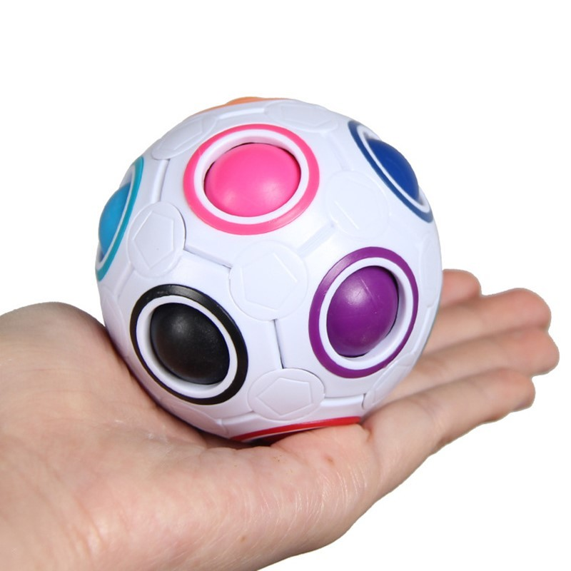 Creative Magic Rainbow Ball Cube Speed Puzzle Ball Kids Educational Learning Funny Gifts Toys for Children Adult Stress Reliever