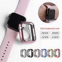 時計ケース超薄型メッキ腕時計ケースアップル 4 3 2 1 42 ミリメートル 38 ミリメートルソフト透明 tpu カバー iwatch 5 44 ミリメートル 40 mmaccessories| |   -