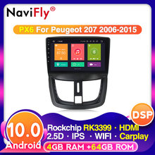 NaviFly 4G+64G Android 10.0 For Peugeot 207 9inch Car DVD Player multimedia video Radio GPS Wifi SWC Head Unit(China)