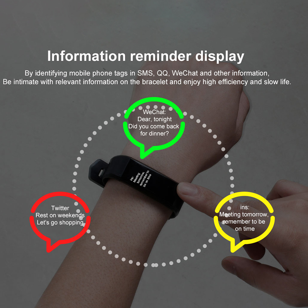 H304ae172cfd84484aef62cdadf84f2a7A VIKEFON Smart Bracelet id115 plus Color Screen Sport Pedometer Watch Smartband Fitness Traker Bluetooth Waterproof Smart Band