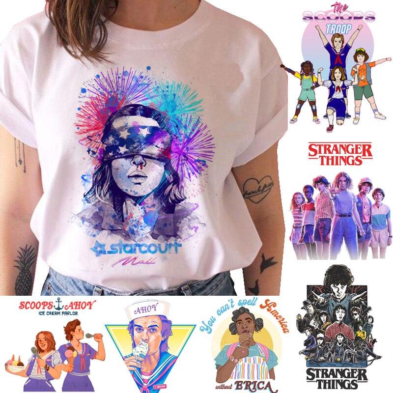 Stranger Things   T     Shirt   Women season 3 Eleven Tshirt Graphic clothes Female Upside Down   T  -  shirt   femme grunge tee   Shirts   funny