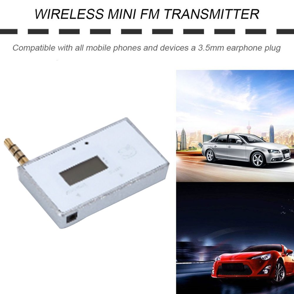 Hot Professional Wireless Mini FM Transmitter Car MP3 Player Display Music Audio For Mobile Phones Tablet PC MP3 Player Receiver