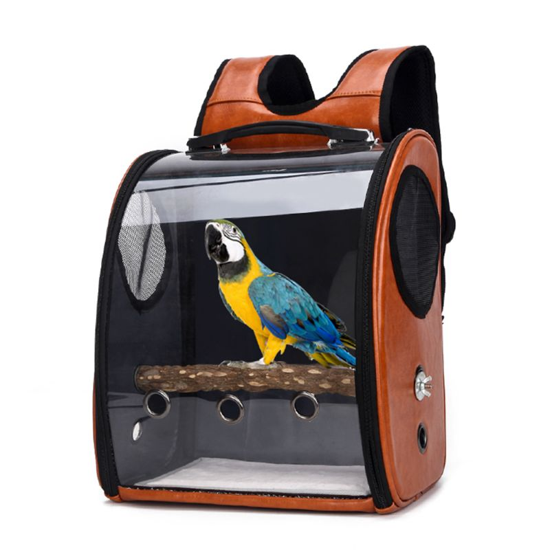 Pet Parrot Bird Carrier Travel Bag Space Capsule Transparent Cover Backpack Breathable Buy At The Price Of 30 38 In Aliexpress Com Imall Com