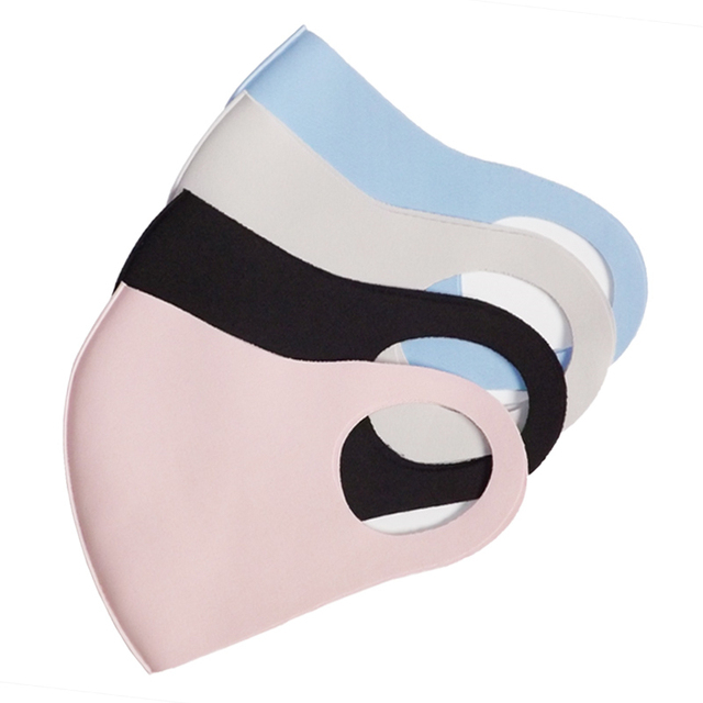 1Pcs mouth face mask black cloth face mask Anti Haze Dust Washable Reusable Dustproof Mouth-muffle Spring Summer Autumn Winter 3