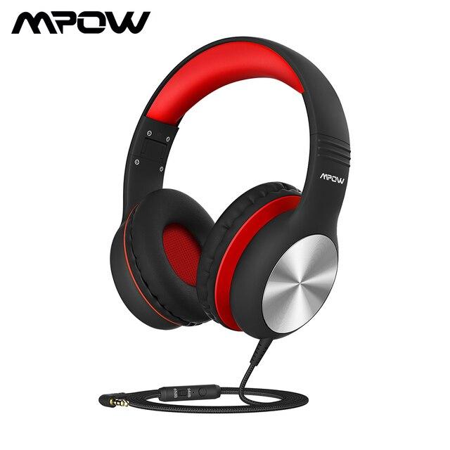 Mpow auriculares CH6 Pro para niños, plegables con cable, auriculares limitadores de volumen con micrófono, regalo de Navidad para niños y niñas