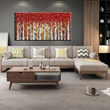 Wall art hand painted large oil painting 3D tree canvas for living room bedroom interior decoration picture no frame