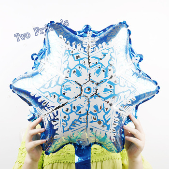 5pcs Merry Christmas Snowflake Foil Balloons Ice Snow Princess Globos Christmas Party Decorations Kids Toys Supplies