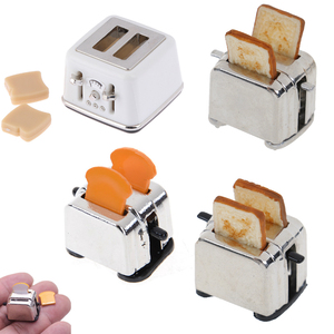 1/12 Scale Dollhouse Bread Machine With Toast Miniature Cute Decorations Toaster Dollhouse Mini Accessories 4 Styles