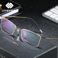 Titanium Semi Rimless Prescription Glasses Men Progressive Optical Eyeglasses Korea Myopia Spectacles Blue Light Photochromic