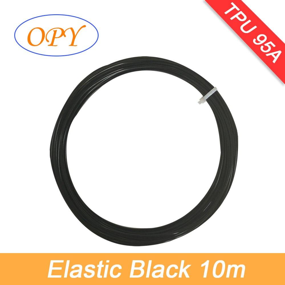 Flexível 1.75g do cabo flexível do filamento 10m 100mm do tpu do opy