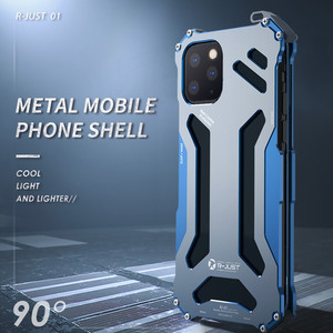 Image 2 - Capa armadura luxuosa de metal, para iphone 11 pro xs max xr x 7 8 plus se 2, capa protetora iphone x xr xs max coque à prova de choque