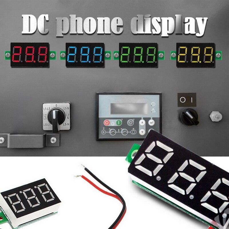 DIDIHOU Digital Voltmeter Dc4.5/4.7/5-30v Two Wires Volt Meter Detector  With LED Panel Digital Display