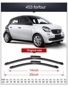 Image 5 - 2x Suave Frameless Bracketless Borracha Car Windshield Wiper Blade 14   23 21 20 Acessórios Para Smart fortwo forfour 451 453