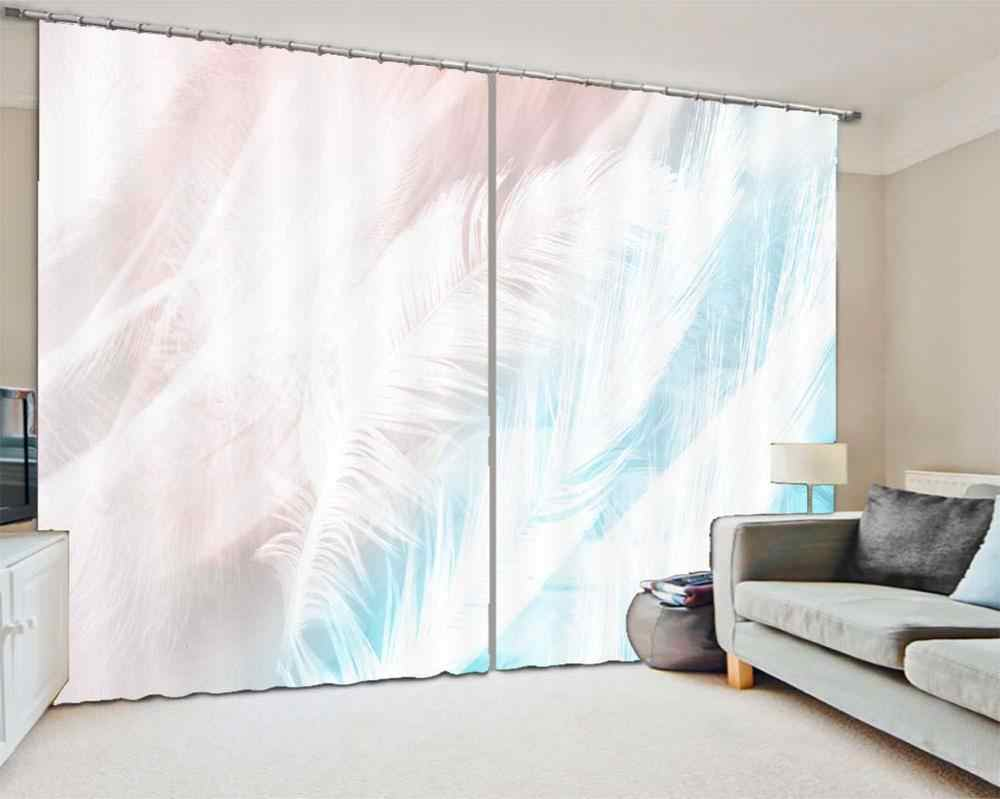 Home Curtains Pretty Feather Light Blocking Curtain For Living Room Bedroom Hotel Curtains For Sale 3d Curtains Curtains Aliexpress