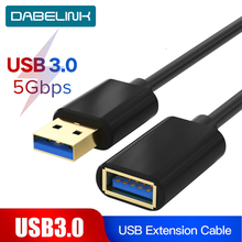 USB 3.0 Extension Cable  Extender Cable for Keyboard TV PS4 Xbo One SSD USB3.0 2.0 Extender Data Cord Mini USB Extension Cable