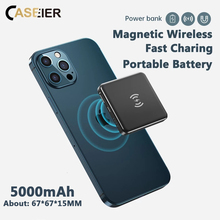 CASEIER Magnetic Wireless Power Bank For iPhone 12 Pro Max Mini Portable Charger External Battery Small Powerbank For iPhone 12