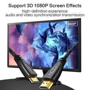 Image 2 - Mini HDMI HDMI Cable1.4 sürüm yüksek hızlı adaptör 1080p 3D için altın kaplama ile projektör HDTV lcd tv kamera düz erkek Erkek