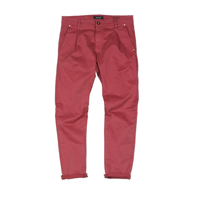 SIMWOOD 2020 new back pockets red pants men high quality little casual elastic trousers slim fit pant SI980557 38
