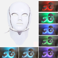 7 Colors led mask skin care tools Wrinkle tightening machine light therapy Neck Therapy Whitening beauty face