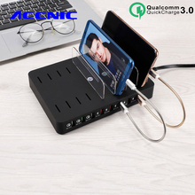 110W 8 Port Multi USB Charger For IPhone 7 8 XS Ipad QC3.0 Fast USB Desktop Charging Station Dock for Samsung S8 S9 s10 Note 8 9