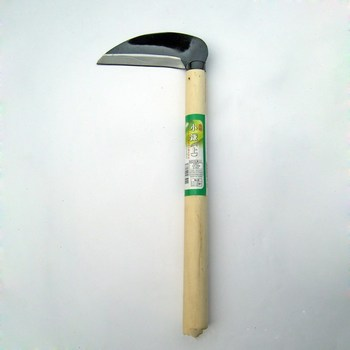 27cm Sharp Grass Sickle Lightweight steel machete knife wooden handle Hand Sickle Hand Scythe for Weeding Garden pruning tools 3