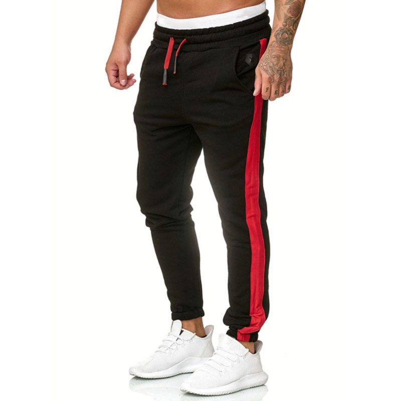 Autumn And Winter Fashion New Men's Sports Pants Handsome Cool Cool Solid Casual Long Strip Personality Sweatpants: