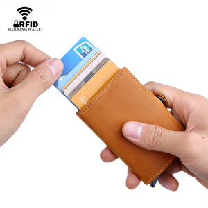 Image 4 - Dienqi Chính Hãng Đựng Thẻ Ốp Lưng Chống RFID Bảo Vệ Ví Nhôm Nam Nữ Kim Loại Ngân Hàng Kinh Doanh Chứng Minh Thư Giá Đỡ