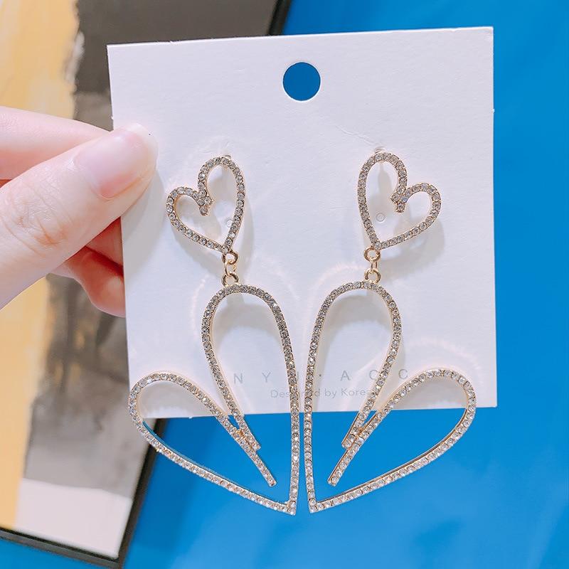 Water Hep Earrings 2019 Punk Rock Hiphop Studs Long Big Skeleton Earrings Gold Abstract Face Skull Stud Earrings for Women Jewelry rd 1