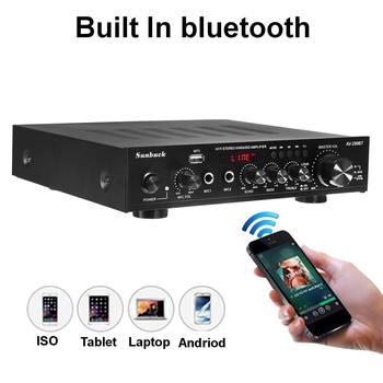Усилитель мощности SUNBUCK AV-299BT, USB, FM, Bluetooth, MP3, 2 микрофона, 2*50 Вт 5