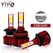 h4 headlight led h7 h11 9005 9006 HB3 HB4 headlamp lampada Highlight Spotlight hi/lo beam 12V cob car 6000k 50W