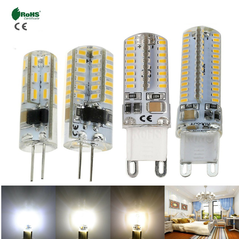 G4 G9 Silicone Crystal LED Corn Bulb 3W 5W 6W 10W Light Lamp 110V 220V DC 12V 3014 SMD Lighting Replace Halogen Pendant Lamps YZ