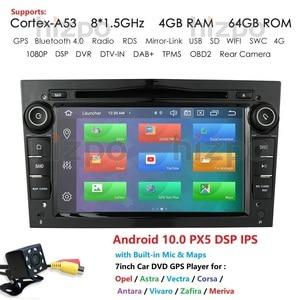 Image 1 - IPS DSP Autoradio 2Din مشغل أسطوانات للسيارة لتحديد المواقع والملاحة لأوبل أسترا H G J antra vectra c b Vivaro Astra H corsa c d zafira b Android10