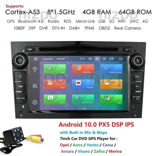 IPS DSP Autoradio 2Din مشغل أسطوانات للسيارة لتحديد المواقع والملاحة لأوبل أسترا H G J antra vectra c b Vivaro Astra H corsa c d zafira b Android10