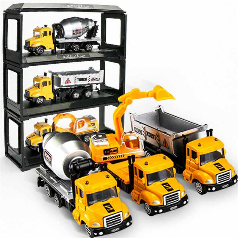 מתכת מכונית צעצוע סגסוגת הנדסת צעצוע רכב רכב משליך/מכלית מלט/חופר משאית דגם לילדים & #39s מתנה חינוכיים כדי