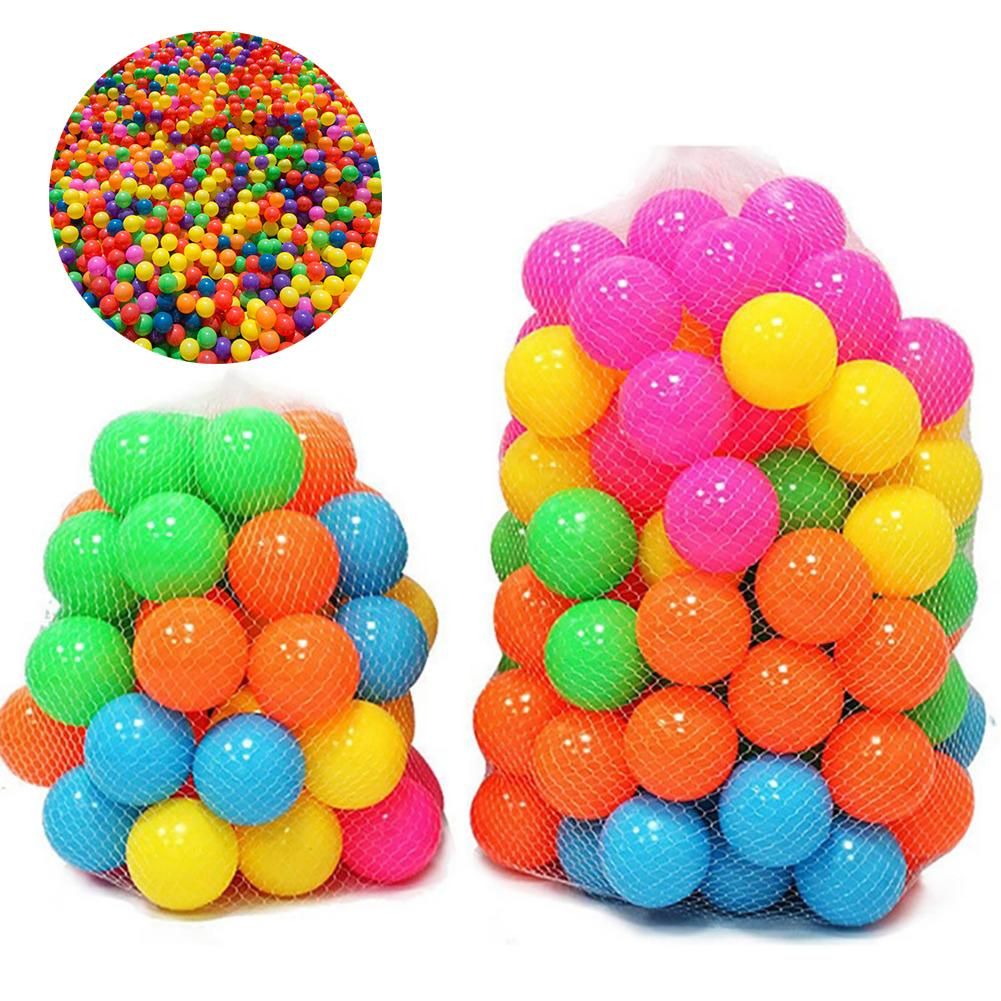100Pcs Colorful Soft Water Pool Ocean Wave Ball Outdoor Fun Sports Baby Toy Develop Hand-eye Coordination Physical Activities
