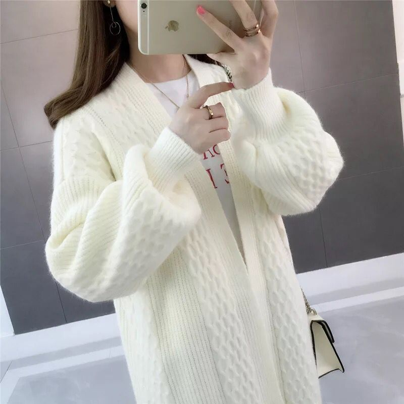 Autumn Ladies Cardigan 2019 Women Loose Knitting Sweater Long Knit Cardigan Plus Size Female Leisure Cashmere Sweaters Coat