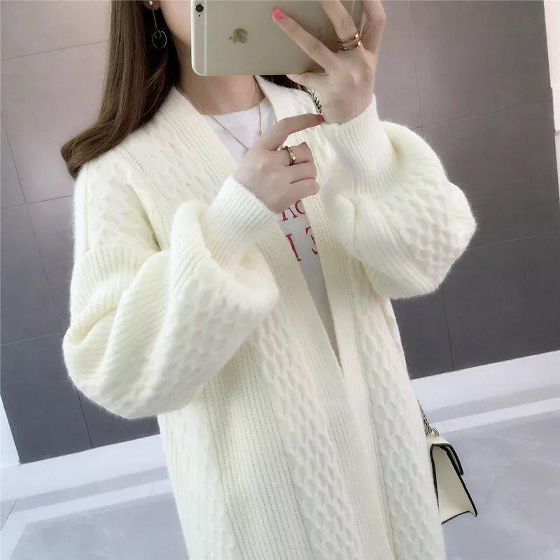 Autumn Ladies Cardigan 2019 Women Loose Knitting Sweater Long Knit Cardigan Plus Size Female Leisure Cashmere Sweaters Coat