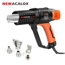 NEWACALOX 2000W EU 220V Thermostat Heat Gun Household Industrial Grade Hot Air Gun Hair Dryer for Soldering/ Car Foil Heat Tool