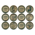 Набор из 6 шт., памятные монеты 200 dram, Азия, 100% настоящая оригинальная монета, новая UNC