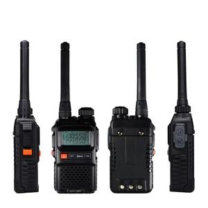 Image 4 - Baofeng UV UV3R 3R Plus Walkie Talkie Dual Band + Rádio em Dois Sentidos CB Ham HF Transceptor de Rádio FM Sem Fio UHF VHF Interfone UV 3R