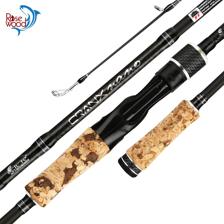 RoseWood 2.1M 2.4M Spinning Fishing Rods 2 Sections Carbon Fiber Ultralight Casting Rods Lure Fishing Rod For Bass Trout Fishing