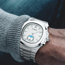 Clássico pp nautilus 5711 designer de aço inoxidável patek masculino relógios topo marca luxo relógio cronógrafo quartzo branco relógio pulso