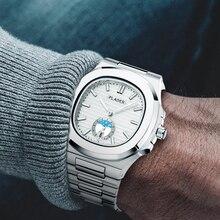クラシックppオウムガイ5711デザイナーステンレス鋼パテックメンズ腕時計トップブランドの高級時計クロノグラフ白クォーツ腕時計
