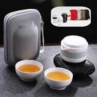 High Multi function Travel Tea Set High Temperature Bone Jade Porcelain Travel Tea Set  UEJ|Teaware Sets|Home & Garden -