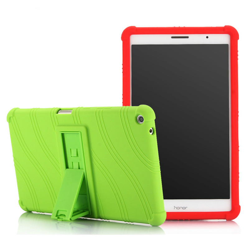 Silicone Shockproof Soft Back <font><b>Case</b></font> for <font><b>Huawei</b></font> MediaPad <font><b>T3</b></font> <font><b>8</b></font>.0 KOB-L09/W09 Honor Play Pad 2 <font><b>8</b></font> inch Tablet Funda stand cover image
