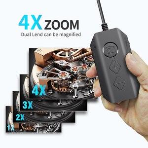 Image 2 - Cámara endoscópica Dual inalámbrica, WiFi, 8mm, 1080P, HD, boroscopio, inspección, para iPhone, Android, cámara serpiente de 2MP para inspeccionar
