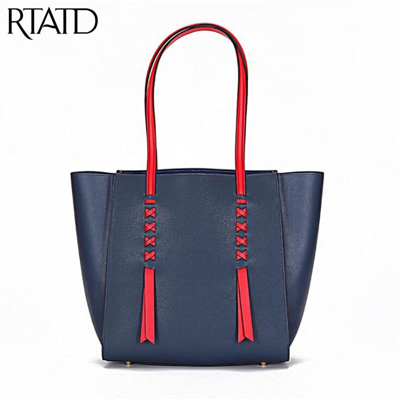 Genuine Leather Brand Design Lady Big Size Tote Chic Messenger Bags Tassel Design Handbags For Female Shopping Bags Bolsa