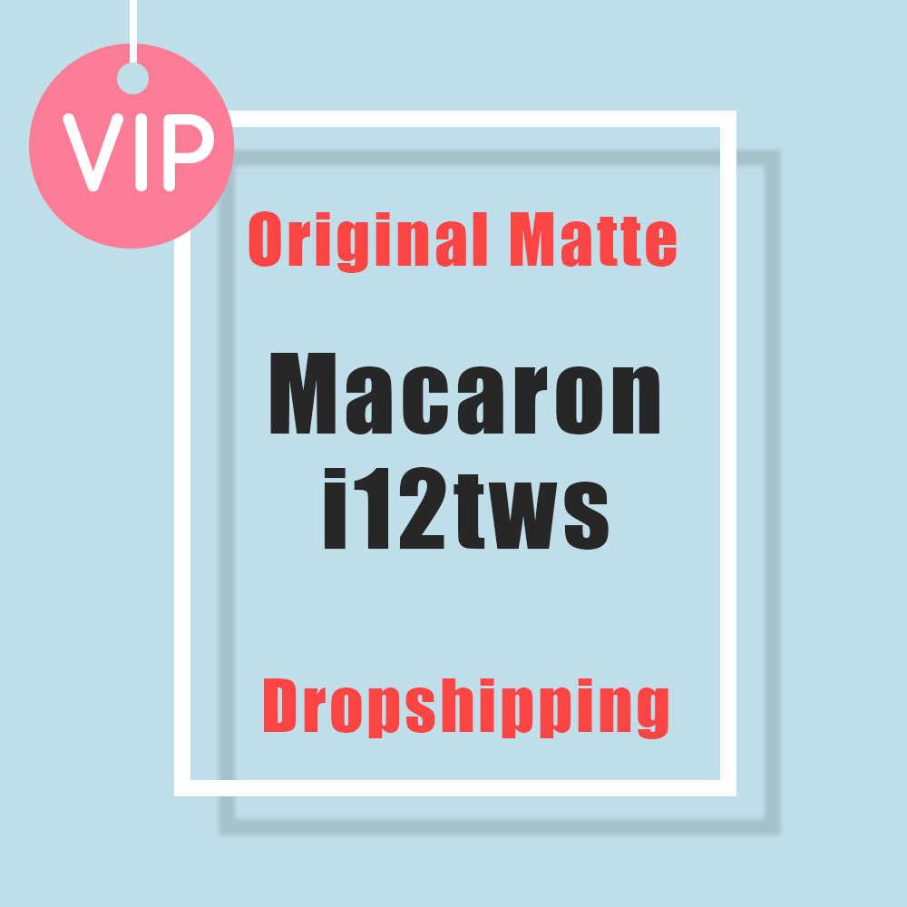 Macaron i12 tws, беспроводные наушники, Bluetooth 5,0, наушники, гарнитура, оригинал, сенсорный, всплывающие, настоящие стерео наушники, наушник для телефона