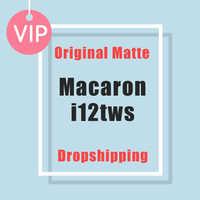 Macaron i12 tws Wireless Earphones Bluetooth 5.0 Headphones Headset Original Touch Pop-up True Stereo Earbuds Earpiece for phone