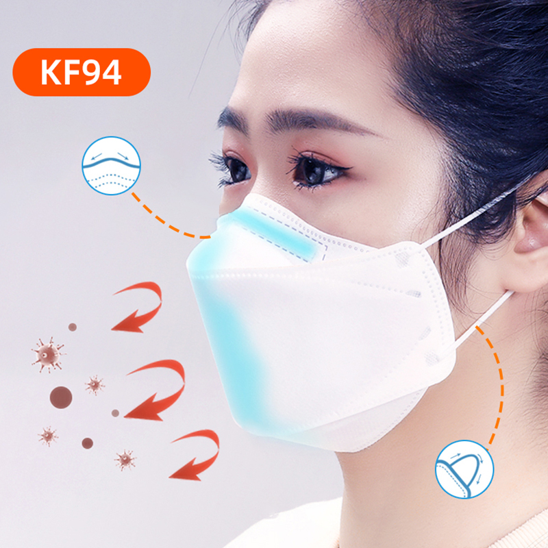 30Pcs KF94 Face Masks 4 Layers Thickened Safety Earloop Anti-Dust Mouth Mask  Filter Breathing Safety Face
